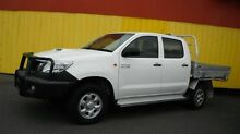 2011 Toyota Hilux KUN26R MY12 SR (4x4) White 4 Speed Automatic Dual Cab Pick-up Moorabbin Kingston Area Preview