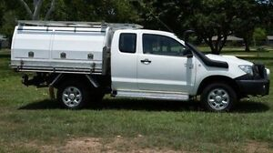 2009 Toyota Hilux KUN26R MY09 SR Xtra Cab White 5 Speed Manual Cab Chassis Winnellie Darwin City Preview