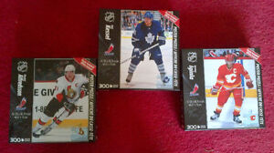 NHL brand new/sealed hockey puzzles with posters
