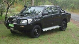 2014 Toyota Hilux KUN26R MY14 SR Double Cab Black 5 Speed Manual Utility Winnellie Darwin City Preview