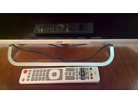 "White 32"" JVC TV with stand and remote, bult in freeview new!"