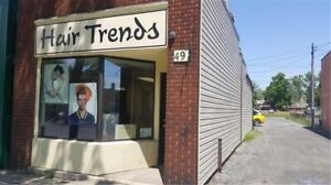Well established hair salon business and building for sale