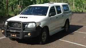 2011 Toyota Hilux KUN26R MY10 SR White 5 Speed Manual Utility Winnellie Darwin City Preview