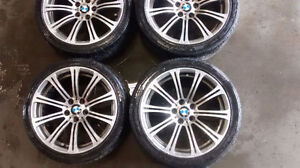 sets of 4 stagged size bmw wheels  Came off from bmw m5 2008