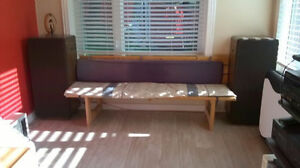 Wooden Long Bench Comes With Cushion ~ Gananoque