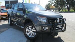 2012 Ford Ranger PX Wildtrak Double Cab Grey 6 Speed Manual Utility Dandenong Greater Dandenong Preview