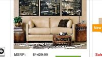 Barely used love seat/sofa bed, Microfiber
