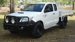 2013 Toyota Hilux KUN26R MY12 SR Xtra Cab White 5 Speed Manual Utility Winnellie Darwin City Preview