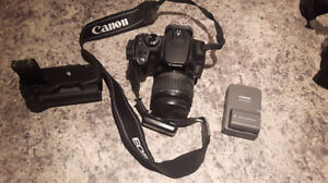 Canon Rebel XT EOS Camera + 18-55mm EFS Lens With Bag