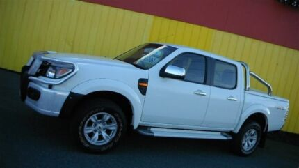 2010 Ford Ranger PK XLT (4x4) White 5 Speed Automatic Dual Cab Pick-up Moorabbin Kingston Area Preview