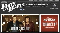 2015 Boots and Hearts passes with camping!!