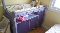 Hand made Diaper table with free side table and free dresser