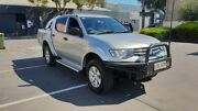2012 Mitsubishi Triton MN MY12 GLX (4x4) Silver 5 Speed Manual 4x4 Double Cab Utility Melrose Park Mitcham Area Preview