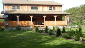 LOG HOME - OPEN HOUSE - ORO MEDONTE - SUNDAY JUNE 24 - 12 - 4