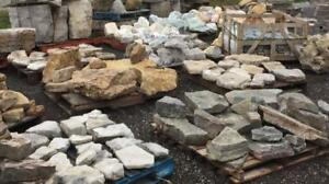 Marble boulders of various sizes and colors, other decorative rocks: amethyst, glacial granite boulders, cheese stone.