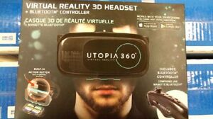 VR 3D headset + bluetooth controller LIKE NEW for sell