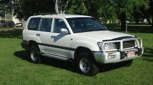 1999 Toyota Landcruiser FZJ105R GXL White 4 Speed Automatic Wagon Winnellie Darwin City Preview