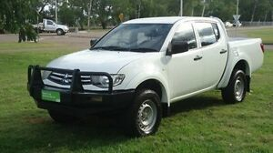 2012 Mitsubishi Triton MN MY12 GLX Double Cab White 5 Speed Manual Utility Winnellie Darwin City Preview