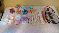 Baby Girl head bands and clips