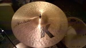Crash 18'' Zildjian K Custom Session Autographié Steve Gadd