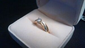 18k Diamond solitaire ring with appraisal