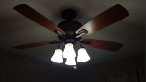 Ceiling Fan and 4 post lights
