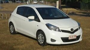 2013 Toyota Yaris NCP130R YR White 5 Speed Manual Hatchback Winnellie Darwin City Preview