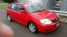 2004 Toyota Corolla ZZE122R Ascent Red 4 Speed Automatic Hatchback Bungalow Cairns City Preview