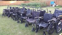 Lots of used wheelchairs.