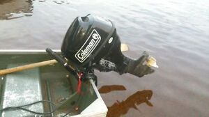 2013 Coleman 9.8 hp 4 Stroke outboard. Works like new