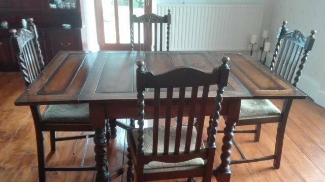 oak barley twist dining table  u0026 4 chairs  circa 1930 u0027s  absolute bargain oak barley twist dining table  u0026 4 chairs  circa 1930 u0027s  absolute      rh   gumtree com