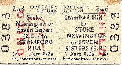 B.T.C. Edmondson Tkt. - Stamford Hill to Stoke Newington or Seven Sisters (E.R.)