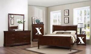 Queen Cherry Louis Phillip Sleigh Bed Regular Retail $699Now $249