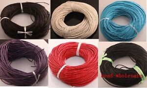 100-Real-Fashion-Black-Leather-Thread-Cord-For-Necklace-Bracelet