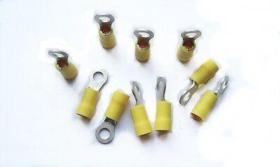 10 Terminal redondo preaislado 6mm2 M5 amarillo Yellow ring terminal Cosse ronde
