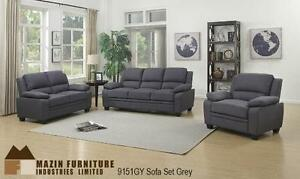 Grey Linen Fabric Living Room, Chair $390, Loveseat $500, Sofa $