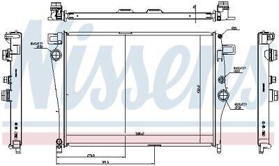 NISSENS Motorkühler Wasserkühler 627044 für MERCEDES KLASSE X117 GLA CLA W176