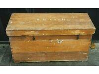 Vintage pine blanket box or coffee table