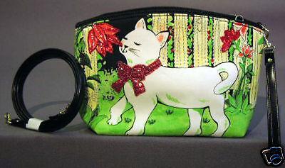 New Proud & Cute Cat Red Bow Petite Tote handbag Purse Hand Bag Pourses