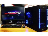 NEW ULTRA FAST 8GB 500GB HDD AMD 3.7GHz Dual Core Desktop Gaming PC Computer FREE SAMEDAY DELIVERY