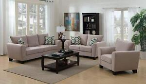 Brand new linen fabric sofa and loveseat $1098 + FREE Delivery