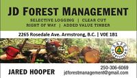 Small scale loggers for private land, woodlot or tree removal
