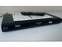 Panasonic BD60 Blu Ray Player, VGC, Remote Control & Instructions