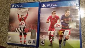 Plusieurs jeux vidéos PS4 à vendre inc. NHL et FIFA