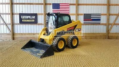 2015 Caterpillar 236d Cab Heat Skid Steer Wheel Loader Tire Machine Cat 236
