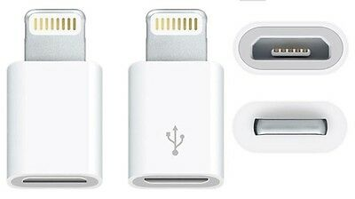♥ Adapter Lightning auf Micro USB Ladekabel passend zu iPhone 5/6/7 S iPad iPod (I Phone 5 Usb-adapter)