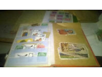 large collection of stamps and cards