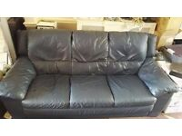 Blue 3 Seater Sofa for sale