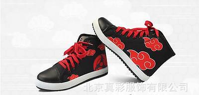 Naruto Cosplay Schuhe (Cosplay Naruto AKATSUKI Anime Sneaker Freizeitschuhe Sportschuhe Schnürer Neu)