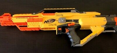 Nerf Stampede ECS N-Strike Automatic Blaster With Shield Dart Gun Battery Power